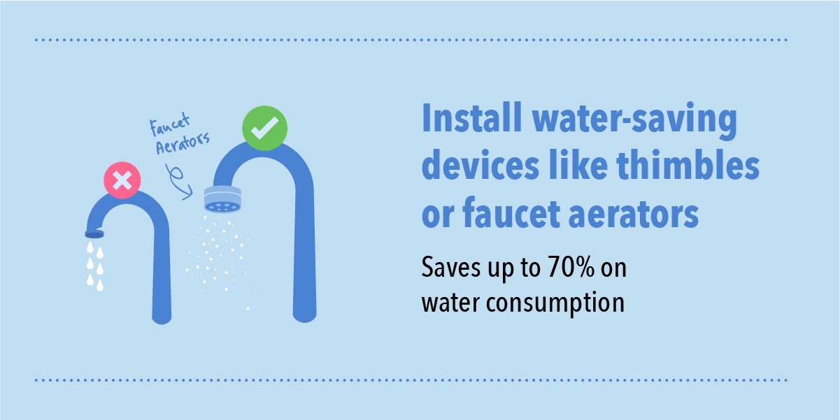 Water outage infographic faucet aerator