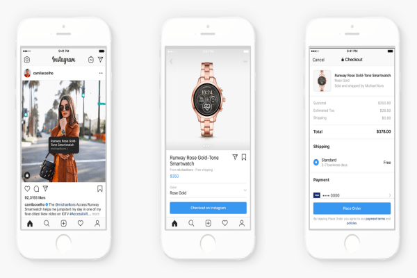 Instagram shop from creator feature
